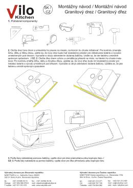 Montážny návod / Montážní návod Granitový drez