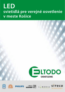 LED projekt Košice - ELTODO OSVETLENIE, sro