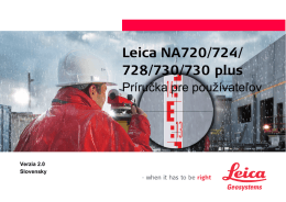 728/730/730 plus - Leica Geosystems