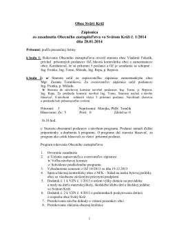 Zápisnica OZ 1/2014 zo dňa 28.01.2014