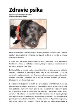 Zdravie psíka - Cathar.org.uk