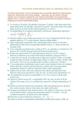 Primerané M úlohy pre ZŠ (test 2)