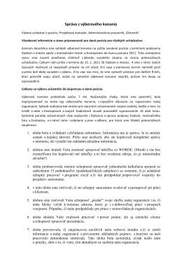 vyhodnotenie výberového konania na zverejnenie