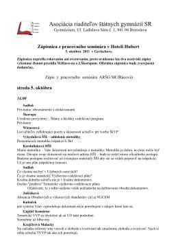 Pozrieť dokumenty - Asociácia riaditeľov štátnych gymnázií
