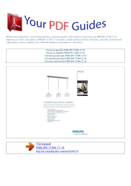 Návod na používanie PHILIPS 37206-17-16