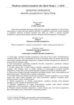 VZNO 3-2010 rokovací poriadok