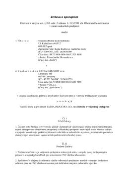 Zmluva o spolupráci - Stredná odborná škola technická
