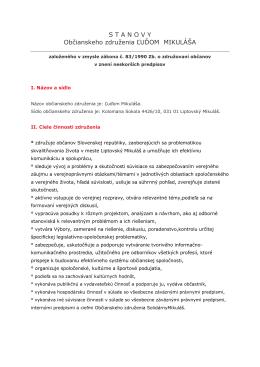 viac informácií - ludommikulasa.sk