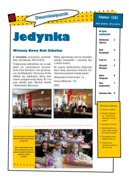 Jedynka - Szkoła Podstawowa nr 1 w Katowicach