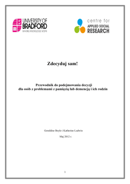 Zdecyduj sam! - University of Bradford