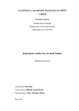 Malý bubon - IS JAMU - Janáčkova akademie múzických umění v Brně