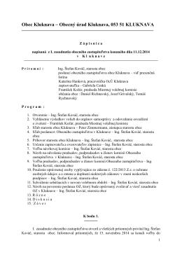 Zápisnica OZ - 11.12.2014
