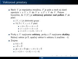 Lineárna algebra