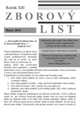 Marec 2014.pdf - Domov - ECAV