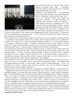 5. Opinie absolwentów - LO w Ząbkowicach Śląskich