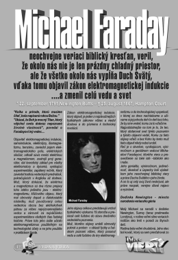 Michael Faraday muž vedy a viery