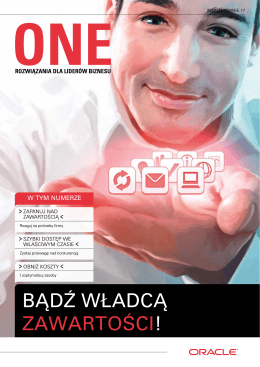 ONE Catalogue Maj 2012 – TECH