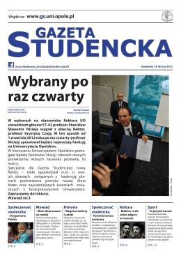 www.gs.uni.opole.pl - Gazeta Studencka