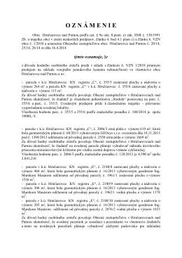 dokument - Obec Hrnčiarovce nad Parnou