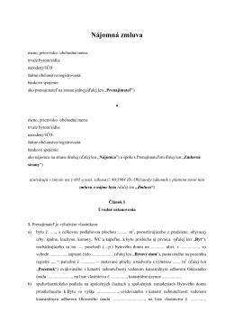 Nájomná zmluva na byt (pdf)