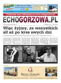 Marzec 2015 - EchoGorzowa