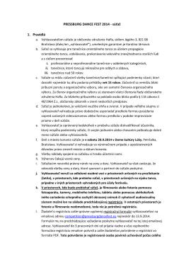 Rules PDF - Pressburg dance fest
