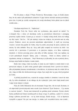 List Oto list pisany z okopu I Wojny Światowej. Skorzystajmy z tego