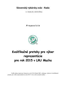 Kvalifikácia 2014 - Sekcia LRU