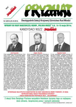 KANDYDACI NSZZ . - SKGRM NSZZ Solidarność