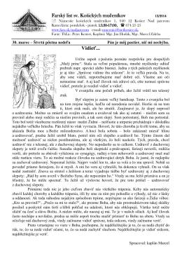 30. Marec 2014 - Farnosť sv. košických mučeníkov