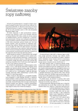 Światowe zasoby ropy naftowej prof. dr hab. inż. Roman Ney