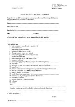 Skierowanie - Spec-Med