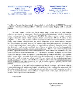 daňový bonus - Slovenské národné stredisko pre ľudské práva