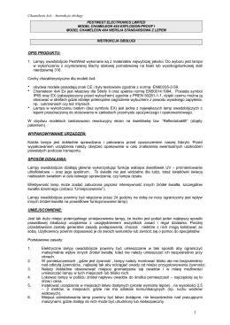 Lampa Chameleon 4x4 instrukcja obsługi.pages
