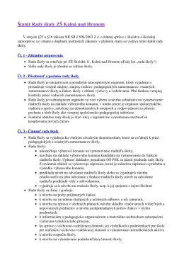 Dokumenty rady školy
