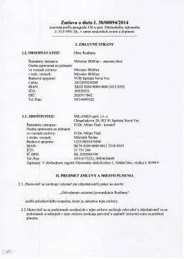 Zmluva o dielo č. 38/00094/2014 (zverejnené 18.7