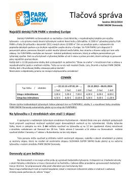 Donovaly - LANOVKY.sk