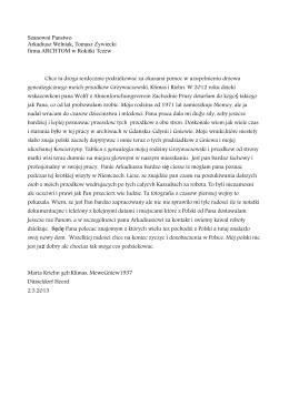 Szanowni Panstwo Arkadiusz Welniak, Tomasz Zywiecki firma
