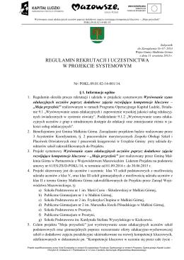 Regulamin naboru - Urząd Gminy w Małkini Górnej