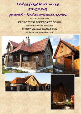 propozycji sprzedaży domu rusiec gmina nadarzyn