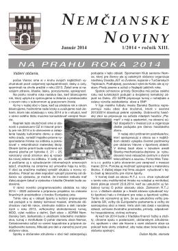 Nemčianske noviny č. 1/2014