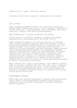Lampa Chameleon EX G instrukcja obsługi .pages
