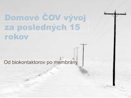 Webinár - vývoj ČOV