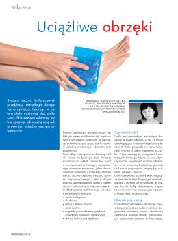 Uciążliwe obrzęki – publikacja LNE&SPA 2013 r.