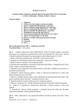 Zapisnica_2014 - Športový klub Oravaman