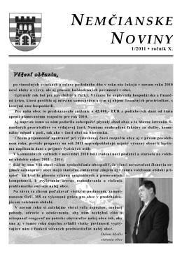 Nemčianske noviny č. 1/2011
