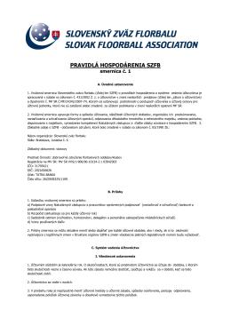 Pravidlá hospodárenia SZFB (pdf)