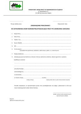 Zobowiązanie pracodawcy do zatrudnienia osoby bezrobotnej
