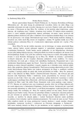 List do Parafian 2011 - Parafia pw. Św. Faustyny