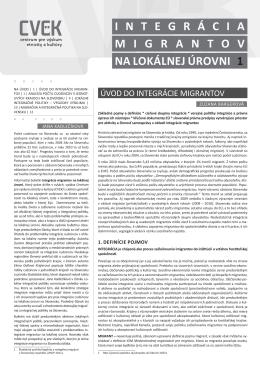 Integrácia migrantov na lokálnej úrovni/1